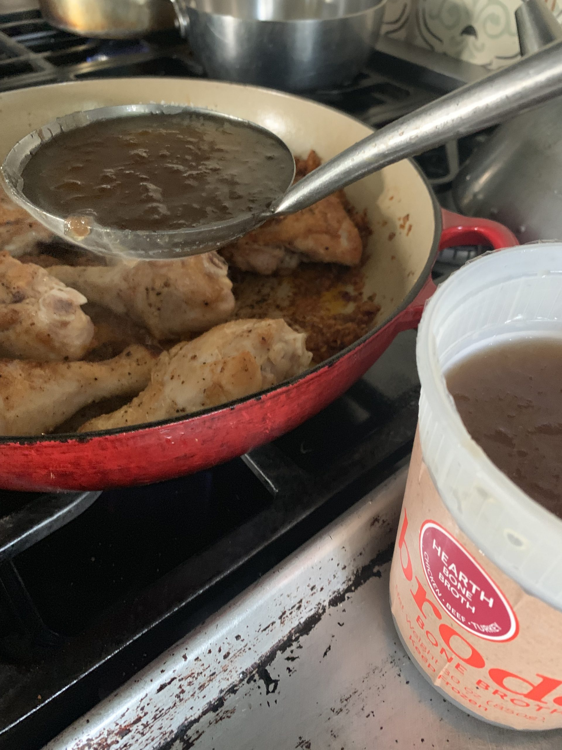 braised chicken with brodo