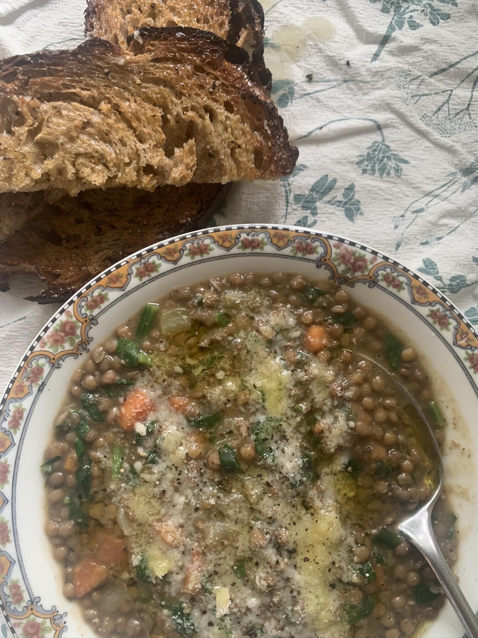 An Easy Lentil Soup