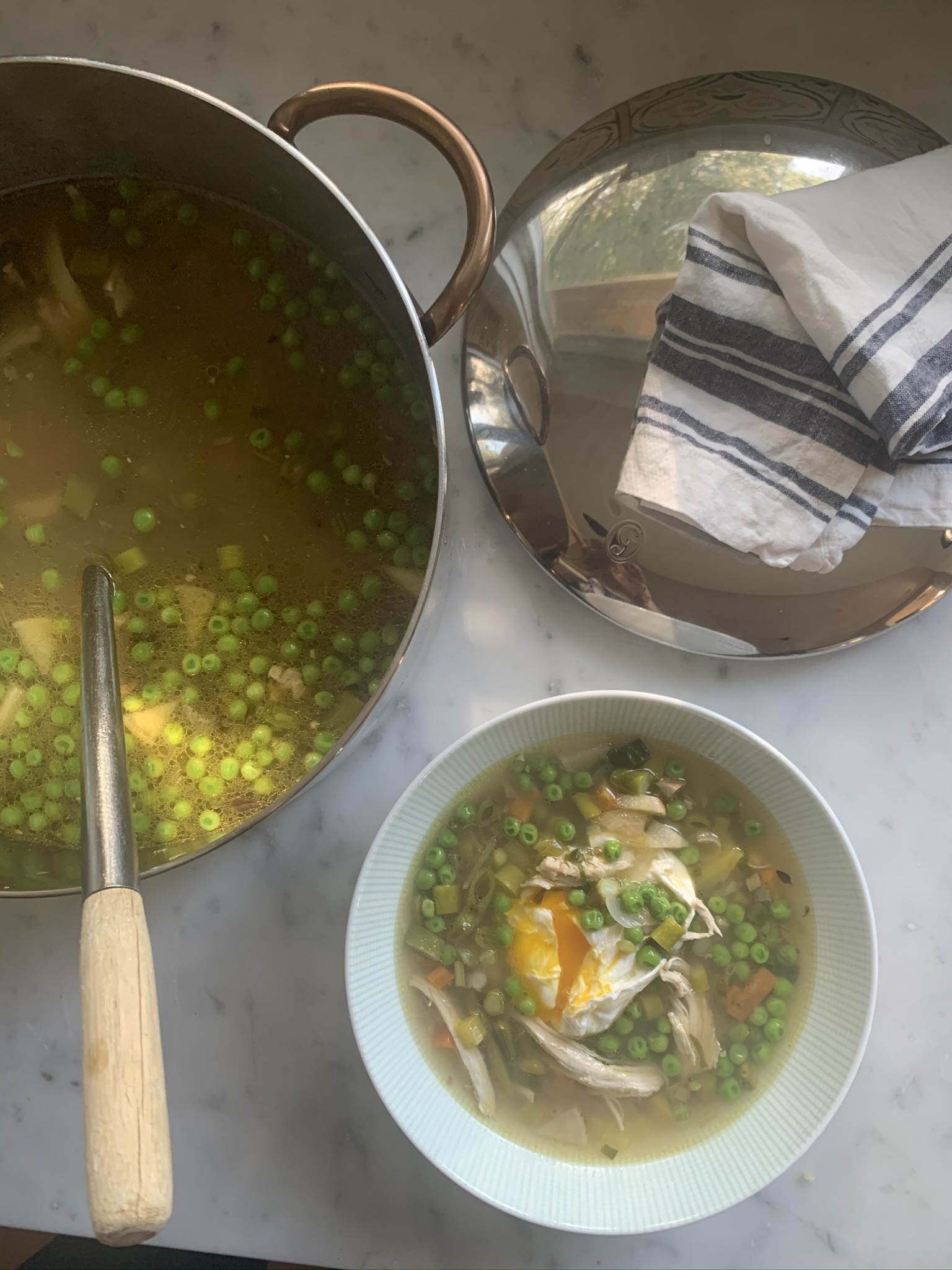 Bone Broth Spring Chicken Soup